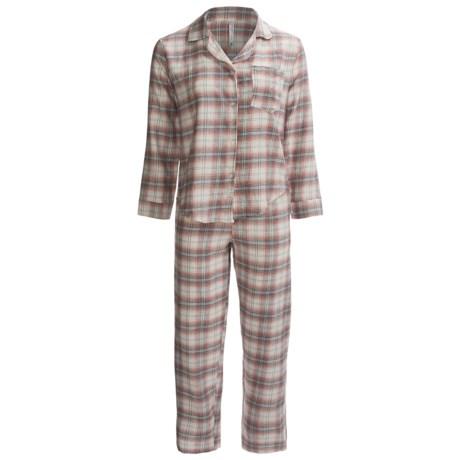 Northwest Blue Flannel Pajamas - Lightweight, Long Sleeve (For Women)
