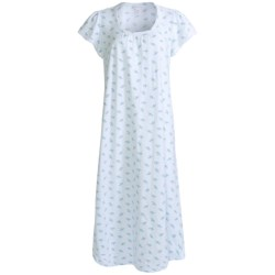 Carole Hochman Printed Nightgown - Cotton Knit, Short Sleeve (For Women)