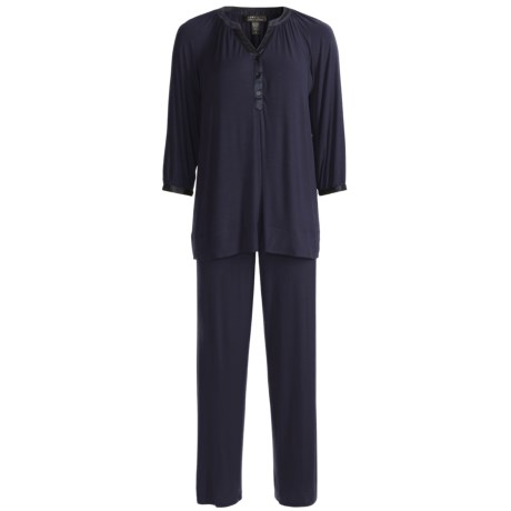 Carole Hochman Midnight Timeless Love Pajamas - Stretch Modal, Long Sleeve (For Women)