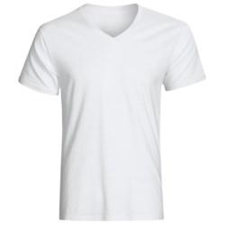 Cotton T-Shirts - 3-Pack, V-Neck, Short Sleeve (For Men)
