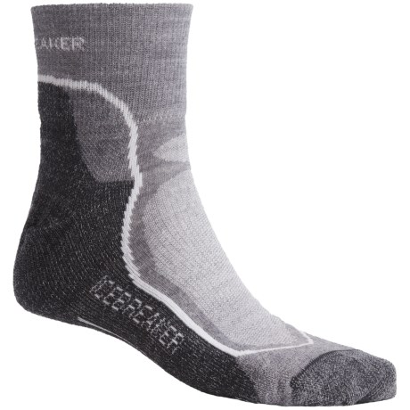 Icebreaker Hike+ Mini Socks - Merino Wool, Midweight, Crew (For Men)