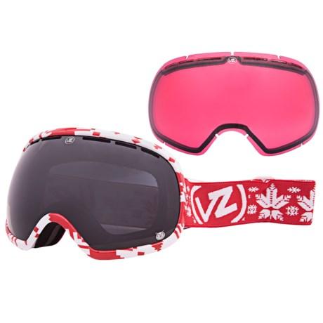 Von Zipper John Jackson Fishbowl Snowsport Goggles - Interchangeable Lens, Asian Fit