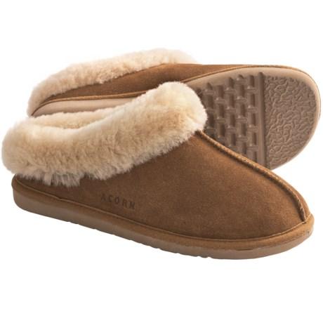 Acorn Klogs Slippers - Sheepskin (For Women)