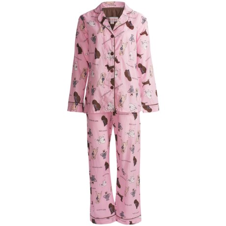 Insominax Cotton Poplin Pajamas - 2-Piece, Long Sleeve (For Women)