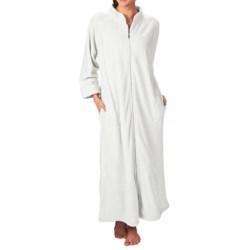 Paddi Murphy Ultra Plush Velour Robe - Mandarin Collar, Full Zip, Long Sleeve (For Women)