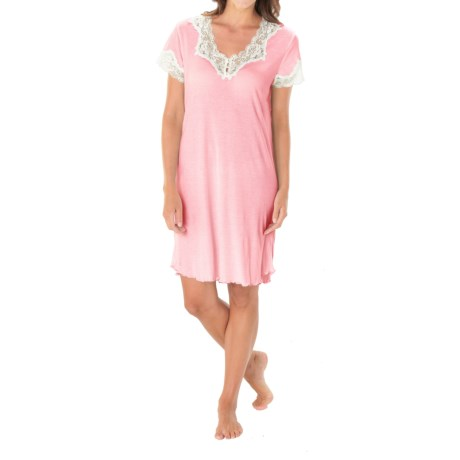 Paddi Murphy Softies Melanie Nightgown - Short Sleeve (For Plus Size Women)