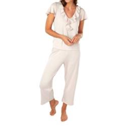 Paddi Murphy Softies Ellie Ruffle Pajamas - Short Sleeve (For Women)