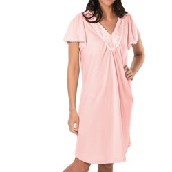 Paddi Murphy Softies Annie Nightgown - Pointelle Knit, Short Sleeve (For Women)