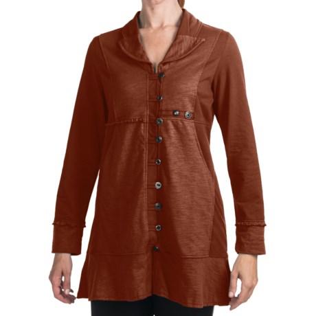 Neon Buddha Earth Button Jacket - Lightweight Cotton (For Women)