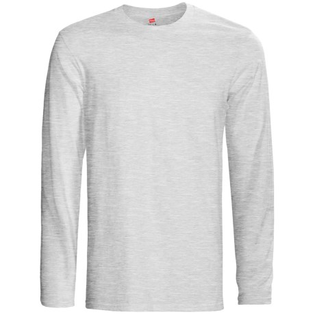 Hanes Nano-T® Cotton T-Shirt - Crew Neck, Long Sleeve (For Men and Women)