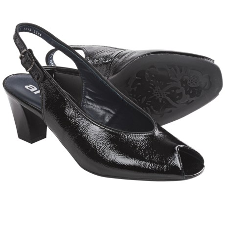 Ara Star Slingback Pumps - Leather, Peep Toe (For Women)