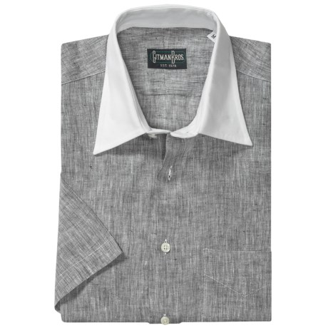 Gitman Brothers Linen Sport Shirt - Short Sleeve (For Men)