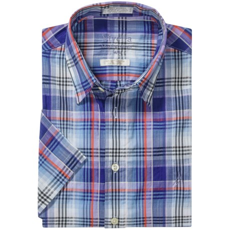 Viyella Southhampton Plaid Shirt - Hidden Button-Down Collar, Short Sleeve (For Men)