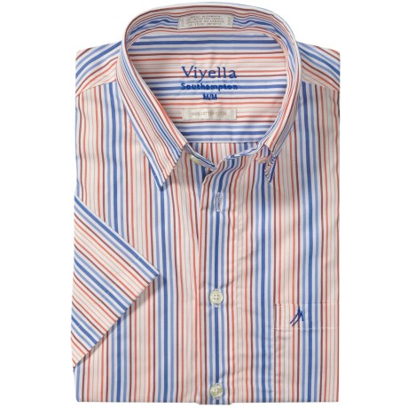 Viyella Southhampton Stripe Shirt - Short Sleeve (For Men)