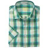 Viyella Multi-Windowpane Shirt - Spread Collar, Short Sleeve (For Men)