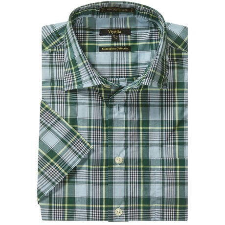 Viyella Cotton Plaid Shirt - Short Sleeve (For Men)