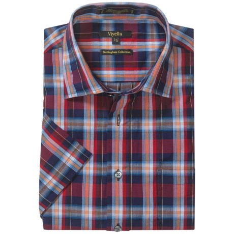 Viyella Check Shirt - Spread Collar, Short Sleeve (For Men)