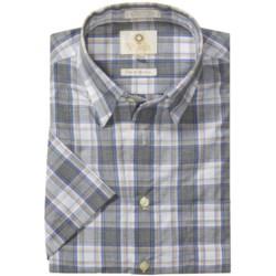 Viyella Cotton Check Shirt - Hidden Button-Down Collar, Short Sleeve (For Men)