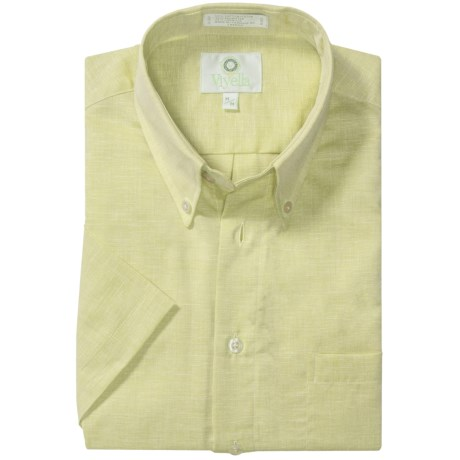 Viyella Solid Shirt - Button-Down Collar, Short Sleeve (For Men)