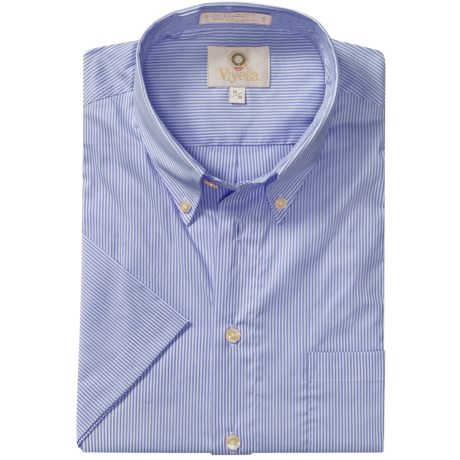 Viyella Mini-Stripe Shirt - Button-Down Collar, Short Sleeve (For Men)
