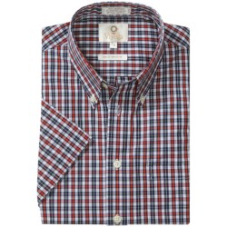 Viyella Cotton Check Shirt - Large Button-Down Collar, Short Sleeve (For Men)