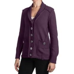 Pure Handknit Talista Cardigan Sweater - Cotton (For Women)