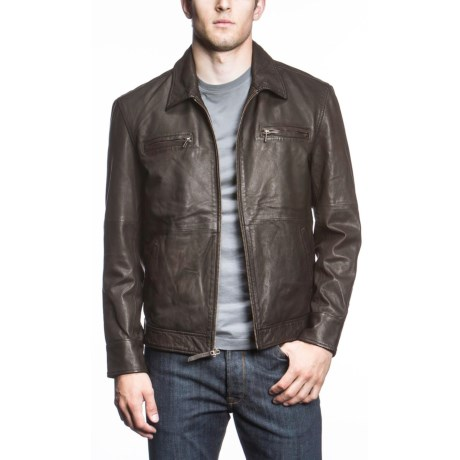 Agave Denim Agave High Voltage Lamb Leather Coat (For Men)