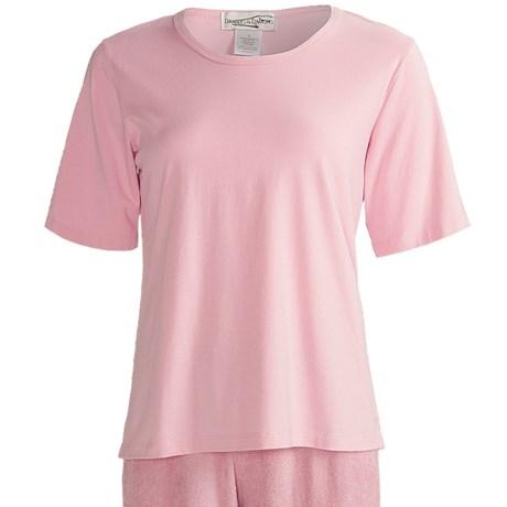 Soft Crew Shirt - Elbow Sleeve (For Women)