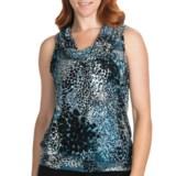 August Silk Hybrid Print Cowl Shirt - Sleeveless (For Women)