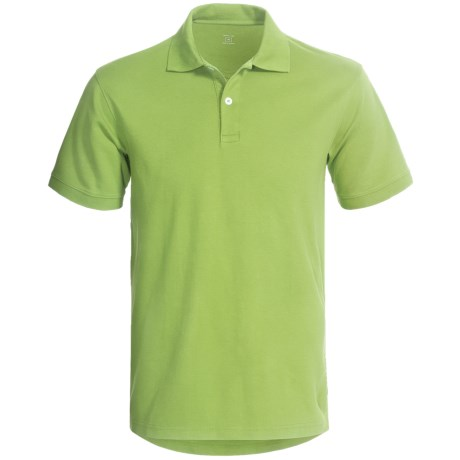 Cotton Jersey Polo Shirt - Short Sleeve (For Men)