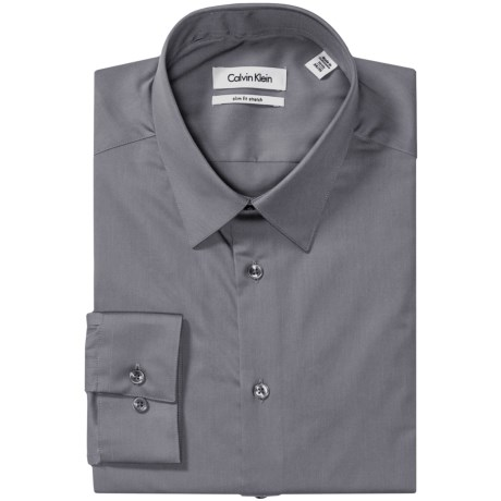 Calvin Klein Stretch Point Collar Dress Shirt - Slim Fit, Long Sleeve (For Men)