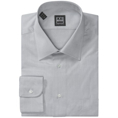 Ike Behar Black Label Cotton Shirt - Spread Collar, Long Sleeve (For Men)