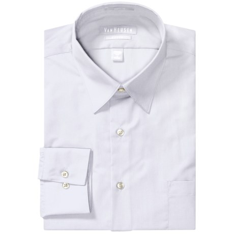 Van Heusen Basics Fitted Dress Shirt - Wrinkle-Free Poplin, Long Sleeve (For Men)