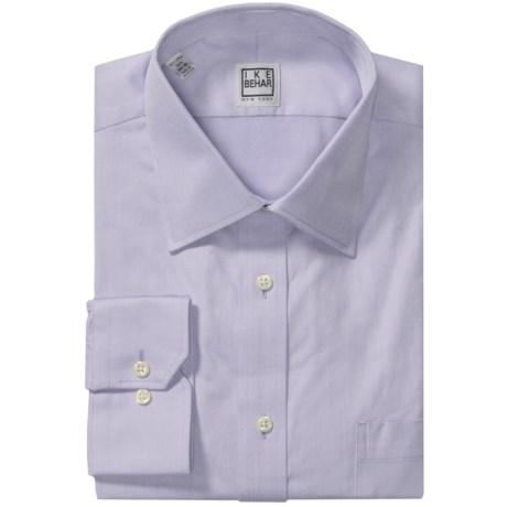 Ike Behar Black Label Textured Cotton Shirt - Long Sleeve (For Men)