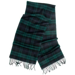 """Moon Cashmere Plaid Scarf - 58x12"""" (For Men and Women)"""