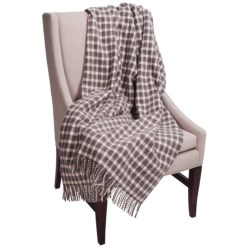 Moon Small Check Throw Blanket - New Wool, 55x72""