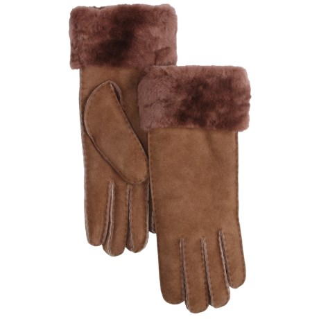 Emu Apollo Bay Sheepskin Gloves - Wool Lining (For Women)