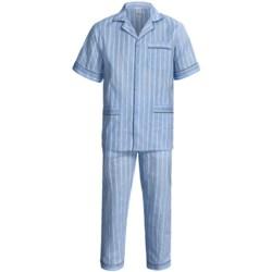 Woven Cotton Pajamas - Short Sleeve (For Men)