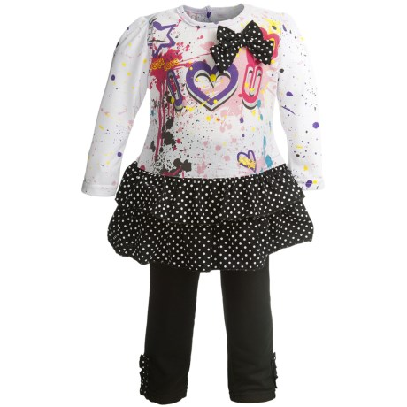 Dress and Pants Set - 2-Piece, Long Sleeve (For Infant Girls)