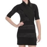 Lilla P Lurex Sweater Dress - Elbow Sleeve (For Women)