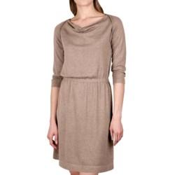 Lilla P Drape Neck Dress - 3/4 Sleeve (For Women)