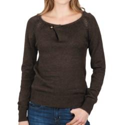 Lilla P Pointelle Raglan Sweater (For Women)