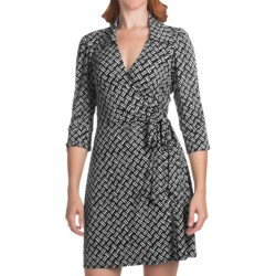 Laundry by Design Matte Jersey Tic Tac Toe Dress - 3/4 Sleeve (For Women)