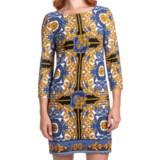 Laundry by Design Matte Jersey Status Scroll Dress - Long Sleeve (For Women)