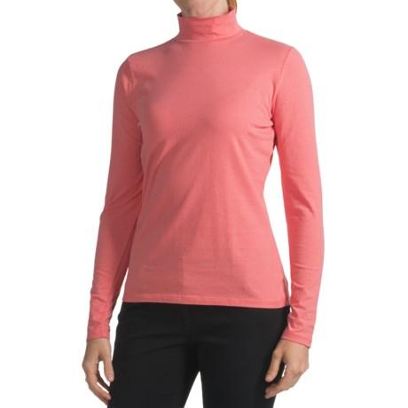 Mock Turtleneck - Long Sleeve (For Women)