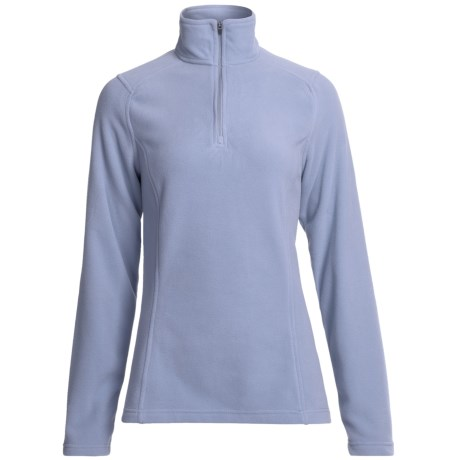 Fleece Pullover Jacket - Zip Neck (For Women)