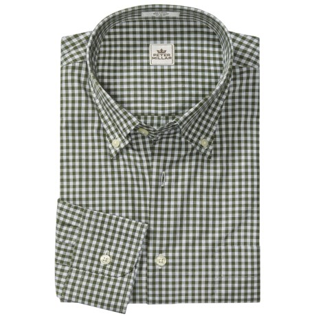Peter Millar Melange Check Shirt - Long Sleeve (For Men)