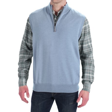 Peter Millar Merino Wool Vest - Zip Neck, Lined (For Men)