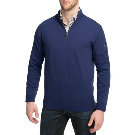 Peter Millar Wool-Blend Sweater - Zip Neck (For Men)