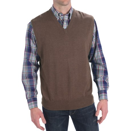 Peter Millar Italian Merino Wool Sweater Vest - V-Neck (For Men)